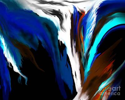 Beautiful Painting - Rusty Blue Cascade by Kathryn L Novak