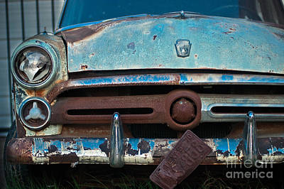 Blue And Brown Photograph - Rusty Blues by Sonja Quintero