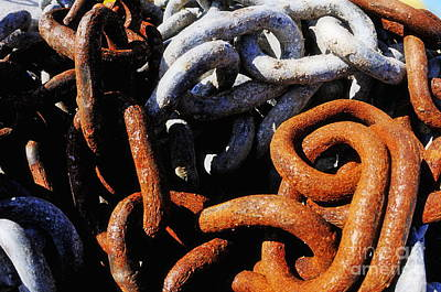 Photograph - Rusty Boat's Chains by Sami Sarkis