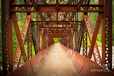 Rusty Bridge Art Print by Inge Johnsson