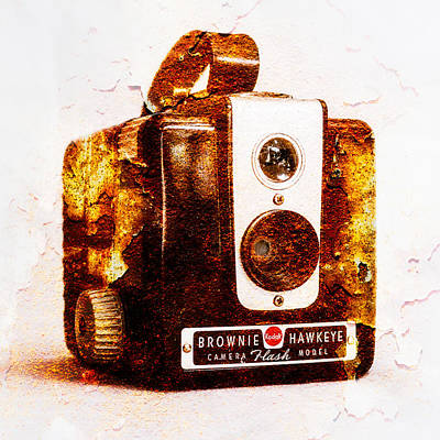Brownie Photograph - Rusty Brownie - Square by Jon Woodhams