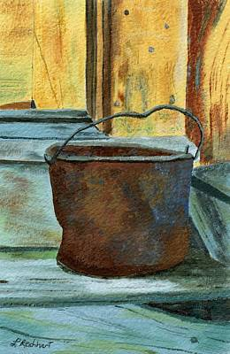 Painting - Rusty Bucket by Lynne Reichhart