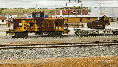 Photograph - Rusty Caboose Kansas Siding by Deborah Smolinske