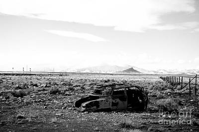 Photograph - Rusty Car 3 - Black And White by Scott Sawyer