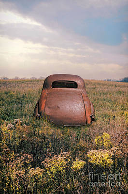 Photograph - Rusty Car In A Field by Jill Battaglia