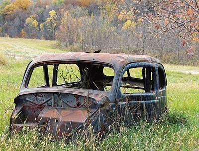 Photograph - Rusty Car Two by Todd Sherlock