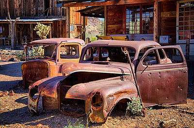 Photograph - Rusty Cars  by Saija  Lehtonen