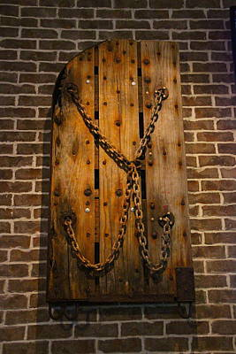 Photograph - Rusty Chains And Wood by Denise Mazzocco