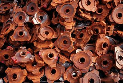Rusty Cogwheels Art Print