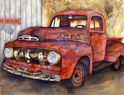 Painting - Rusty Crusty Ford Truck by Diane Ferron