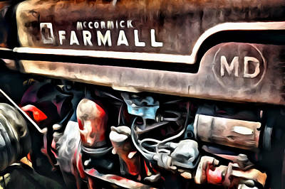 Digital Art - Rusty Farmall D by Patrick M Lynch