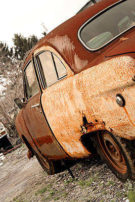 Photograph - Rusty Ford Crestliner by Michael Porchik