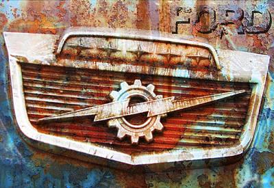 Digital Art - Rusty Ford by Greg Sharpe