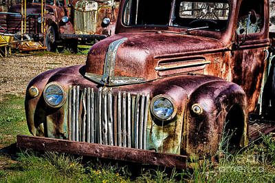 Photograph - Rusty Ford by Jim McCain