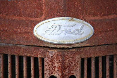 Photograph - Rusty Ford Tractor by Bryan Davies