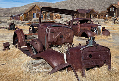 Photograph - Rusty Ford Truck At Bodie by Kathleen Bishop