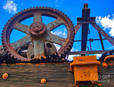 Photograph - Rusty Gear by Gregory Dyer