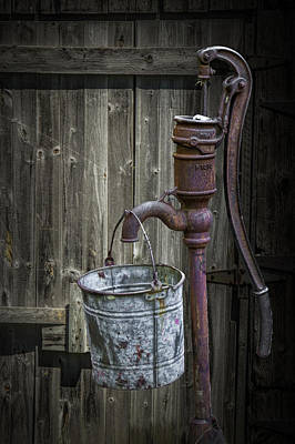 Randall Nyhof Royalty Free Images - Rusty Hand Water Pump Royalty-Free Image by Randall Nyhof