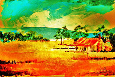 Homestead Mixed Media - Rusty Heat by Sean Roderick