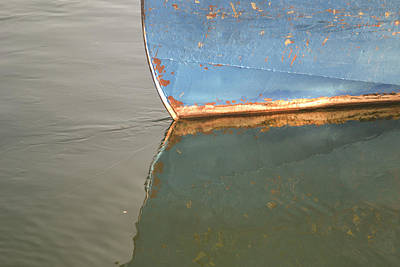 Photograph - Rusty Hull Reflection by Bill Mock