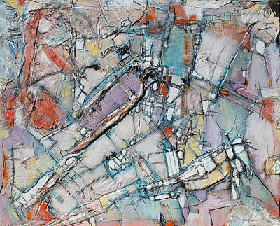 Hari E. Thomas Abstract Painting - Rusty Industrial World by Hari Thomas