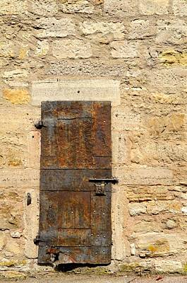 Photograph - Rusty Iron Door by Corinne Rhode