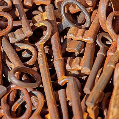 Rusty Keys Art Print by Art Block Collections