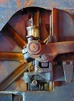 Rusty Machinery 2 Art Print by Laurie Tsemak