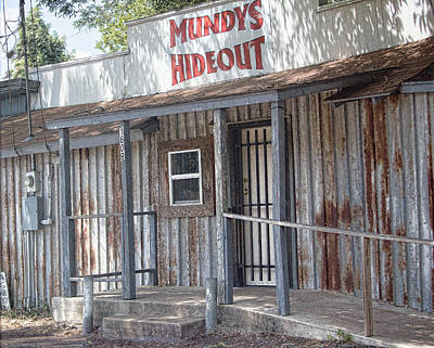 Window Signs Photograph - Rusty Metal Architecture by Linda Phelps