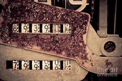 Photograph - Rusty Meters by Lawrence Burry