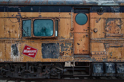 Train Depot Photograph - Rusty Milwaukee Road by Mike Burgquist