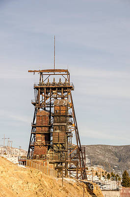 Photograph - Rusty Mining Headframe by Sue Smith