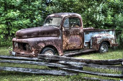 Rusty Old Beater Ford Truck Original by Robert Loe