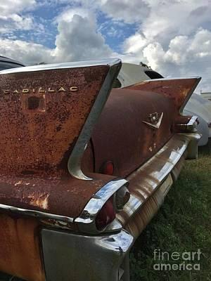 Photograph - Rusty Old 1958 Cadillac by Bob Sample
