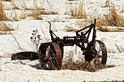 Photograph - Rusty Old Farm Plow by Ms Judi