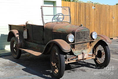 Rusty Old Ford Jalopy 5d24641 Art Print
