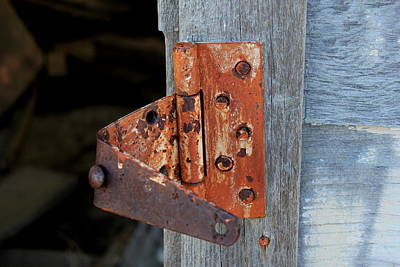 Photograph - Rusty Old Hinge by Trent Mallett