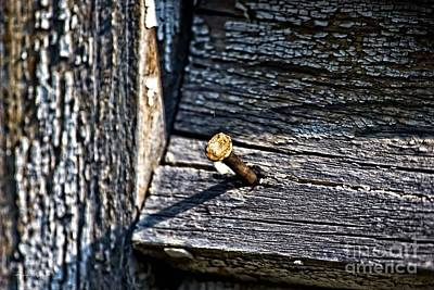 Photograph - Rusty Old Nail by Ms Judi