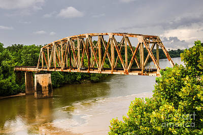 Rusty Old Railroad Bridge Art Print