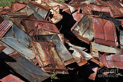 Roofing Tin Photograph - Rusty Old Roof Tin by JW Hanley