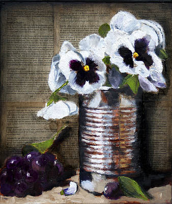 Painting - Rusty Old Tin by Gaye White