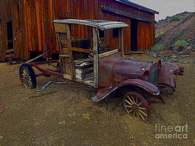 Rusty Old Vintage Car Art Print