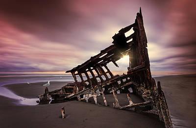 Peter Iredale Photograph - Rusty Perch  by Dana Walker