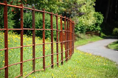 Photograph - Rusty Pickets And Rails by Charlie and Norma Brock
