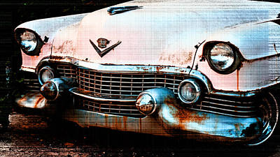 Photograph - Rusty Pink Cadillac by Michael Porchik