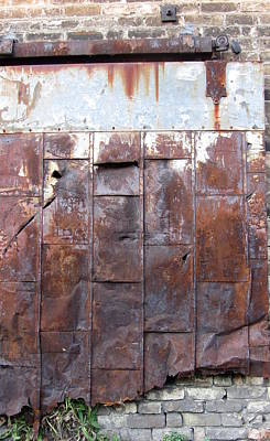 Photograph - Rusty Plate Door 1 by Anita Burgermeister