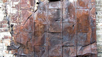 Photograph - Rusty Plate Door 2 by Anita Burgermeister
