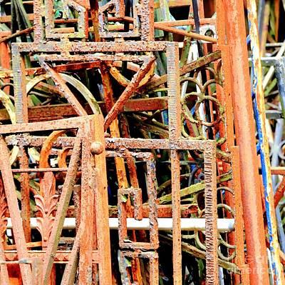 Photograph - Rusty Railings Square by Carol Groenen