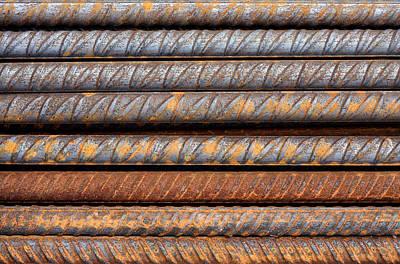 Rusty Rebar Rods Metallic Pattern Art Print