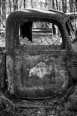 Old Photograph - Rusty Rino In Black And White by Greg Mimbs
